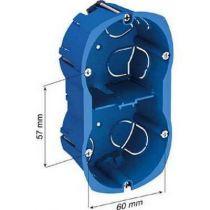 Multifix, boîte 2 postes entraxe 57 mm, diamètre 67 mm, profondeur 40 mm
