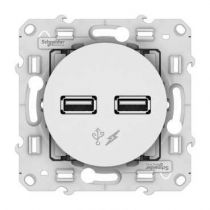 Odace - chargeur double USB - Blanc (S520409)