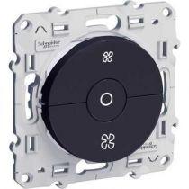 Odace, interrupteur VMC Anthracite, avec position arrêt, à vis (S540243)