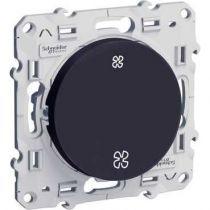 Odace, interrupteur VMC Anthracite, sans position arrêt, à vis (S540233)