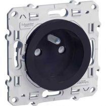 Odace, prise de courant 2P+T Anthracite, à vis, connexion à vis (S540039)