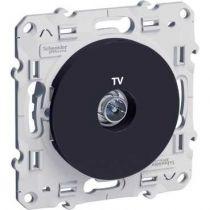 Odace, prise TV Anthracite, à vis (S540445)