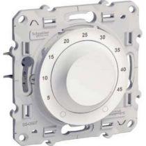 Odace, thermostat blanc, 10 a pour plancher chauffant, livré avec sonde