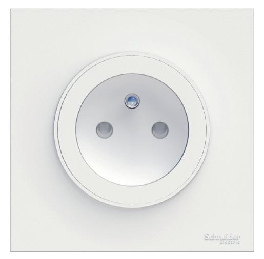 Odace prise de courant 2p+t blanc, à vis, 2 connexions rapides par pôle (S520059)