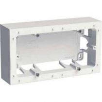 Odace styl, boîte pour montage en saillie blanc, 2 postes entraxe 71 mm