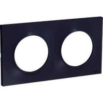 Odace Styl, plaque Anthracite 2 postes horiz./vert. entraxe 71mm (S540704)