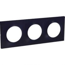 Odace Styl, plaque Anthracite 3 postes horiz./vert. entraxe 71mm (S540706)