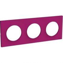 Odace Styl plaque Violine 3 postes horizontaux ou verticaux entraxe 71mm (S520706D)