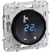 Odace thermostat fil pilote a ecran tactile noir