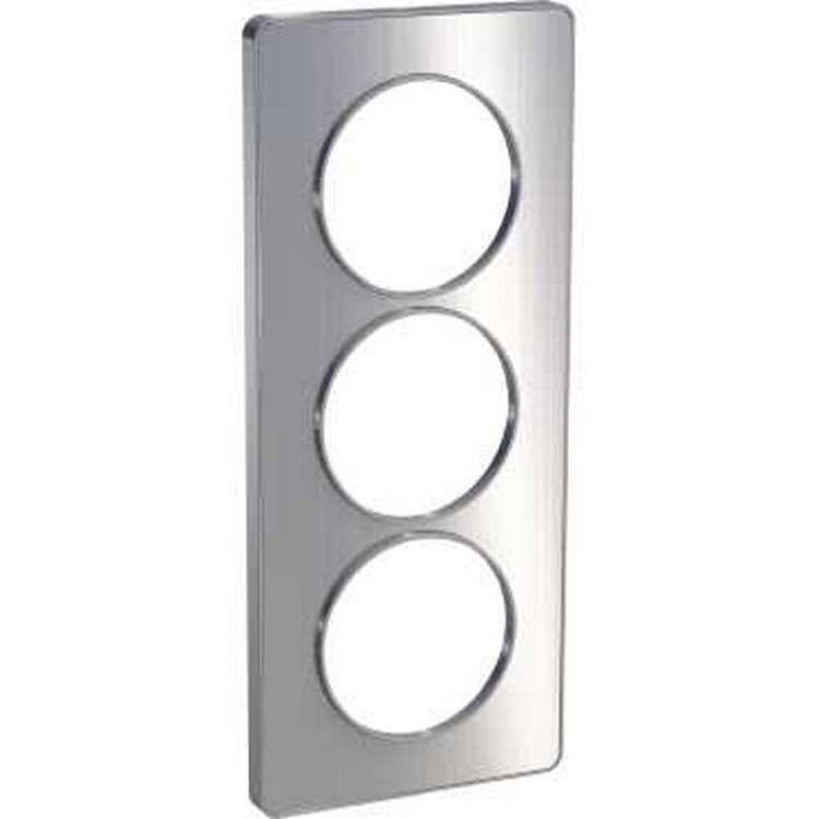 Schneider s530816j odace touch plaque aluminium bross liser alu 3 postes verticaux entraxe - Plaque alu brosse ...