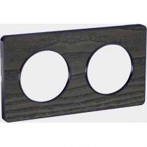 Odace Touch, plaque Bois Frêne liseré Anthracite 2 postes horiz./vert. 71mm (S540804P3)