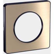 Odace Touch, plaque Bronze brossé avec liseré Anthracite 1 poste (S540802L)