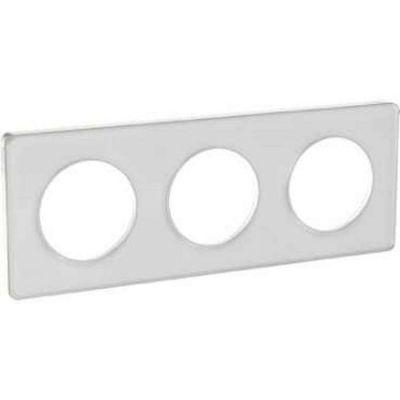schneider s520806r odace touch plaque translucide blanc. Black Bedroom Furniture Sets. Home Design Ideas