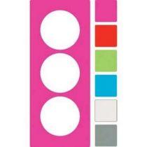 Odace you transparent blanc, lot de 3 feuillets 6 couleurs, 3 postes vertical 57