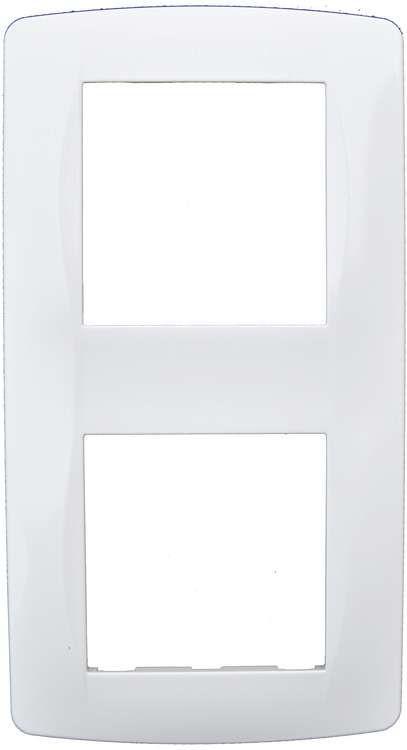Plaque blanche 2poste. ent71mm