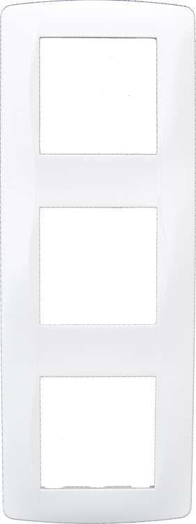 Plaque blanche 3 postes entraxe 71mm