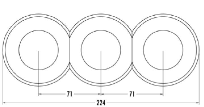 Plaque de finition centrale verre pour composants avec corps central (100611)