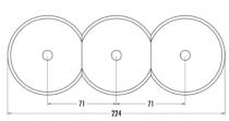 Plaque de finition centrale verre pour composants sans corps central (100610)