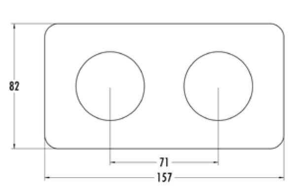 Plaque de finition double bakelite blanche hors tel-tv-rj45-enceintes-variateurs (176422)