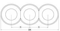 Plaque de finition extérieur verre pour composants avec corps central (100613)