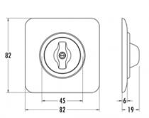 Plaque de finition simple bakelite noire hors tel-tv-rj45-enceintes-variateurs (119328)