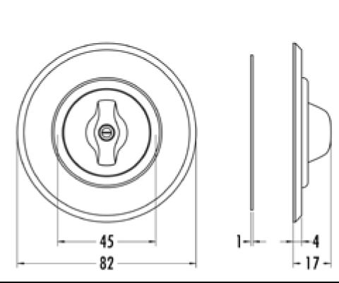 Plaque de finition simple verre pour composants avec corps central (100609)