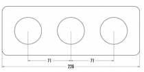 Plaque de finition triple bakelite blanche hors tel-tv-rj45-enceintes-variateurs (176423)