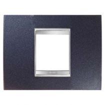 Plaque lux rectangulaire - en métal - 6 modules - blue chic - chorus