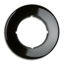 Plaque simple bakelite noire hors variateurs, tv, rj 45, téléphone et enceintes (173063)