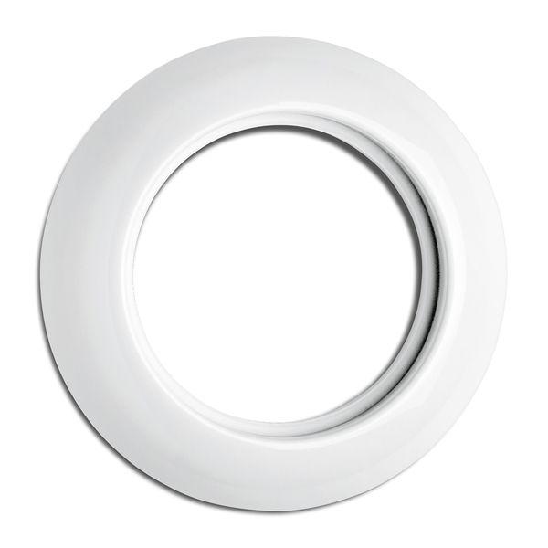 Plaque simple porcelaine - tel- tv - rj45 - enceintes (173086)