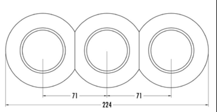 Plaque simple porcelaine biseautée haut et bas hors tel- tv - rj45 (173087)