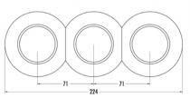 Plaque simple porcelaine biseautée haut pour tel- tv - rj45 (173089)