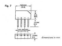 Pont de redressement 250v-1.5a (b250c-2300-1500) (250V1.5)