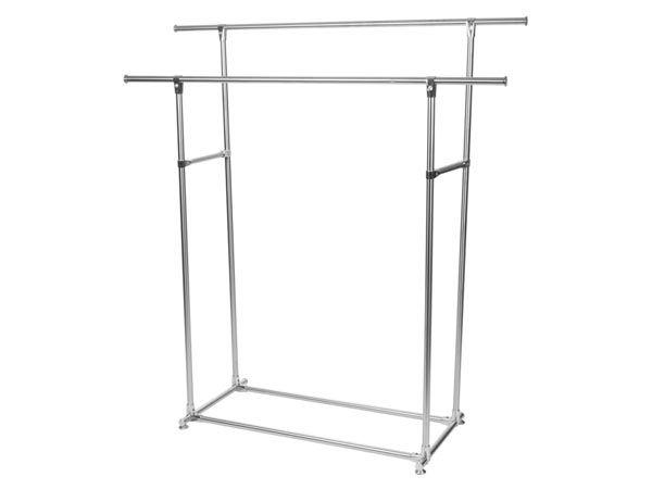 Porte-vêtements - 2 barres - robuste - 145 x 50 x 155 cm (MP62)