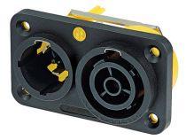 Powercon® true1 16a, embase secteur double (NAC3PX)