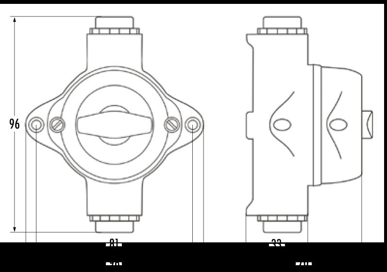 Prise boite de derivation horizontale pour piece humide ip44 bakelite (100830)