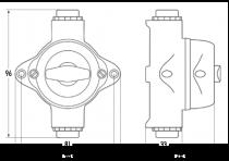Prise boite de derivation verticale pour piece Humide ip44 bakelite (100829)
