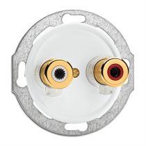 Prise haut parleur WBT NEXT GEN bakelite blanche pour cache en verre (100691)