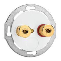 Prise haut parleur WBT Porcelaine blanche (100741)
