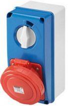 Prises verticales étanches avec interrupteur de verrouillage 50/60hz avec fonc (IEC309) (IP55)3p+t 63a 500v 7h sbf