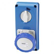 Prises verticales étanches avec interrupteur de verrouillage 50/60hz sans fonc (IEC309) (IP55)3p+t 16a 230v 9h sbf (GW66305N)