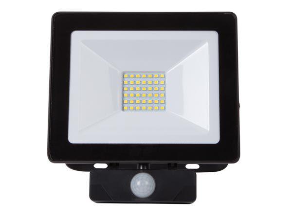 PROJECTEUR LED POUR L\'EXTÉRIEUR - 30 W, BLANC NEUTRE - NOIR - PIR (LEDA6003NW-BP)