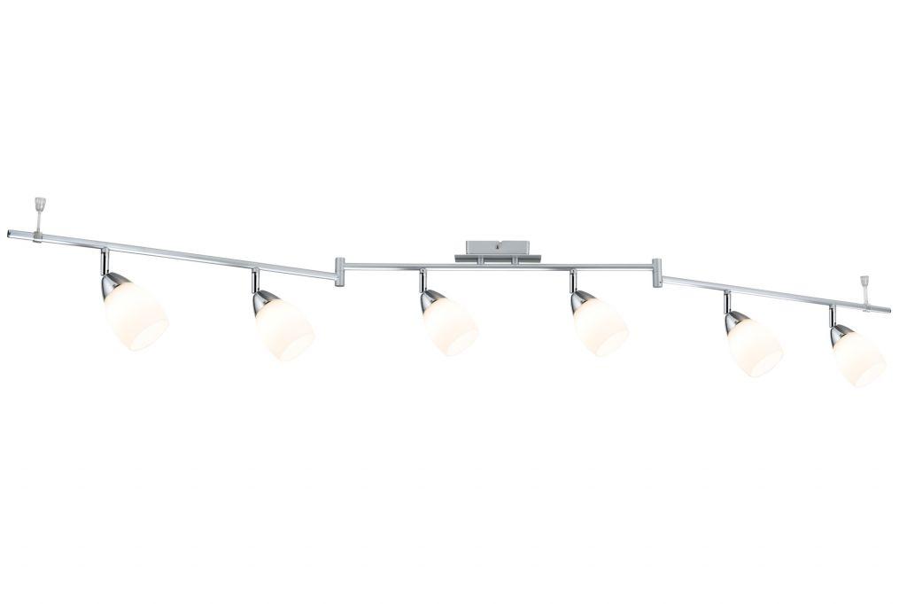 Projecteur Wolba 6-spots chrome mat sans ampoule, max. 10W GU10 (66685)