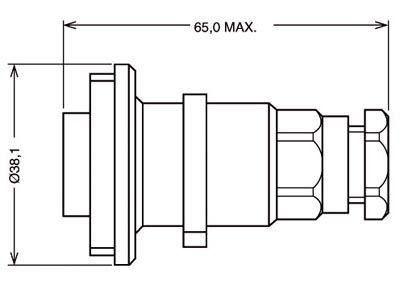 Prolongateur etanche ip 68 contact bnc 50 ohm