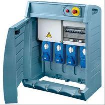 Q-box 4-63 avec bornier d\'alimentation - câblé - 3 prises 2p+t 16a + 1 prises 2p+t 32a - ip55