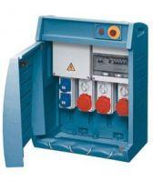 Q-box 4-80 avec bornier d\'alimentation - câblé - 2 prises 2p+t 16a + 1 prise 3p+t 16a + 1 prise 3p+n+t 16a + 1 prise 3p+n+t 32a