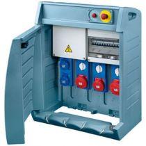 Q-box 4-80 avec bornier d\'alimentation - câblé - 2 prises 2p+t 16a + 2 prises 3p+t 16a + 1 prise 3p+t 32a - ip55