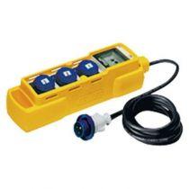 Q-din 5 asc 3pr.iec309 mobile+boîtier pr