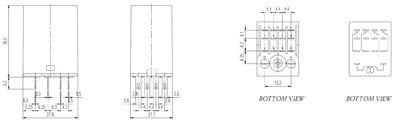 Relais 4rt 24vdc 5a avec led + bouton test