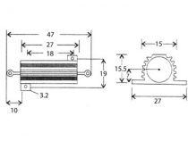 Resistor 25w 1k2 (RG1K2)